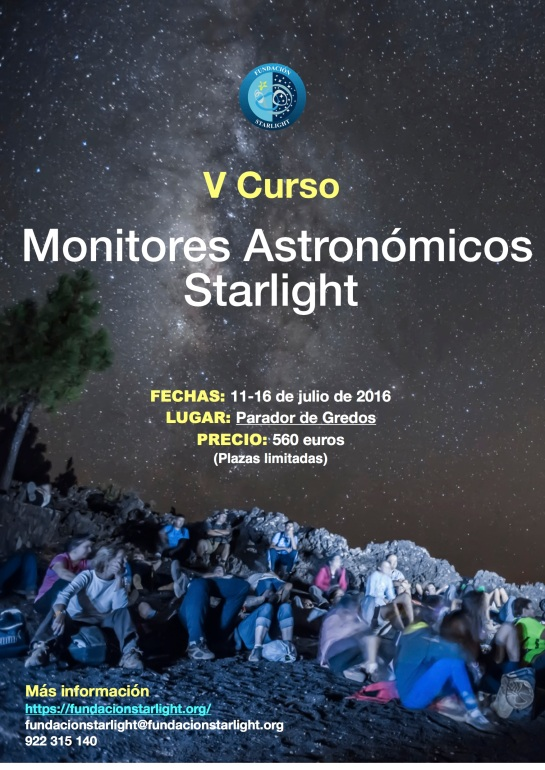 CARTEL-CURSO MONITORES STARLIGHT GREDOS 2016