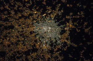 Milan seen from the ISS in 2015