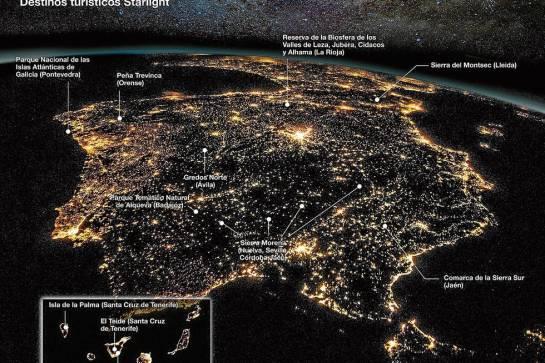 mapa Destinos España