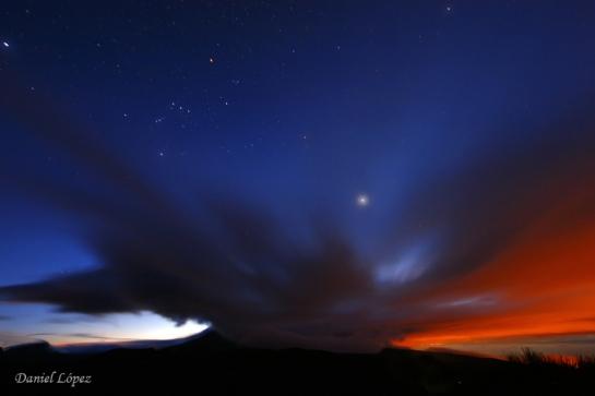OBJETIVO-PROTECCIÓN DEL CIELO070407 nubes teide orion puesta sol copia