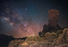Teide National Park at night