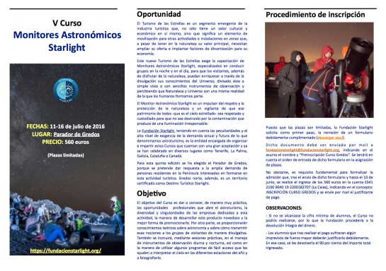 TRÍPTICO-CURSO MONITORES STARLIGHT GREDOS 2016