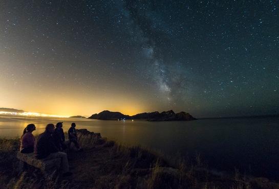 Cíes Sur y Vía Láctea