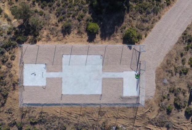 El observatorio astronómico de EL MORAL en construcción